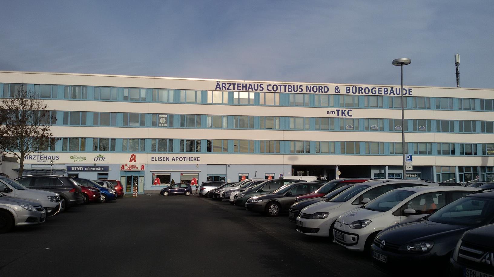 Ein Bild vom Ärztehaus Cottbus Nord in dem sich das Büro der Opferhilfe Cottbus befindet